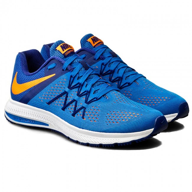 wholesale dealer a4088 fc62c Shoes NIKE - Zoom Winflo 3 831561 402 Fountain Blue Total Orange - Indoor -  Running shoes - Sports shoes - Men s shoes - efootwear.eu