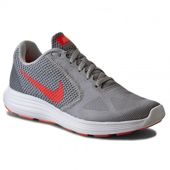 Shoes NIKE - Revolution 3 819303 002 Wolf Grey/Hyper Orange/Cool Gr