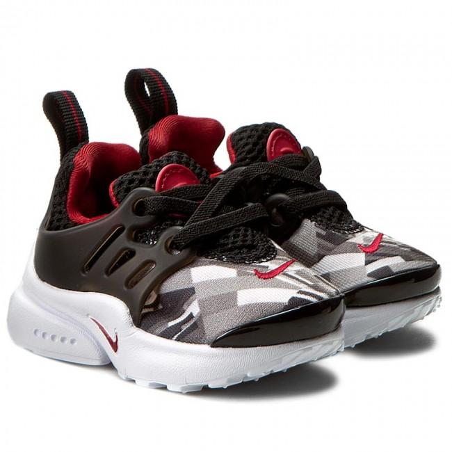 3e8121ebf Shoes NIKE - Presto Print (TD) 859598 001 Black Gym Red Wolf Grey White -  Laced shoes - Low shoes - Boy - Kids  shoes - www.efootwear.eu