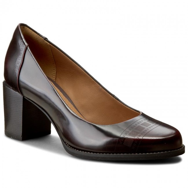 3c2ff36c10f4 Shoes CLARKS - Tarah Sofia 261106514 Burgundy Leather - Heels - Low ...