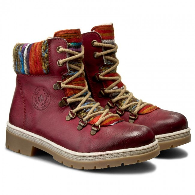 Hiking Boots RIEKER - Y9432-35 Red