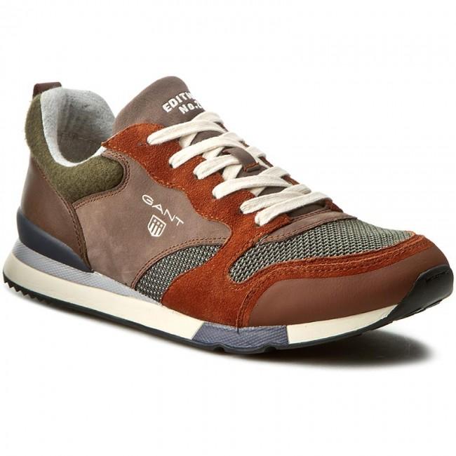 Sneakers GANT - Russell 13631342 Dk Orange Moss Green G78 - Sneakers ... 2d1c86a2a