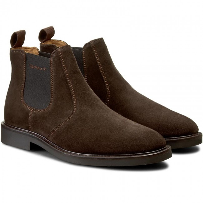 fcb5144aed Ankle Boots GANT - Spencer 13653419 Dark Brown G46 - Chelsea boots - High  boots and others - Men's shoes - www.efootwear.eu
