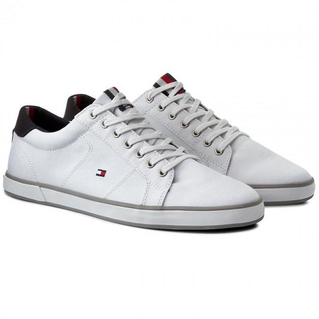 c77eaedfb421b Plimsolls TOMMY HILFIGER - Harlow 1D FM0FM00596 White 100 - Plimsolls - Low  shoes - Men s shoes - www.efootwear.eu