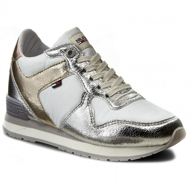 37c86602a891 Sneakers TOMMY HILFIGER - DENIM Lady 2Z1 FW0FW00612 Light Grey 007 ...
