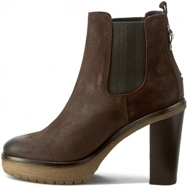 534072c70b91a Boots TOMMY HILFIGER - DENIM Cleo 1B EN56821966 Coffeebean 212 - Boots -  High boots and others - Women's shoes - www.efootwear.eu