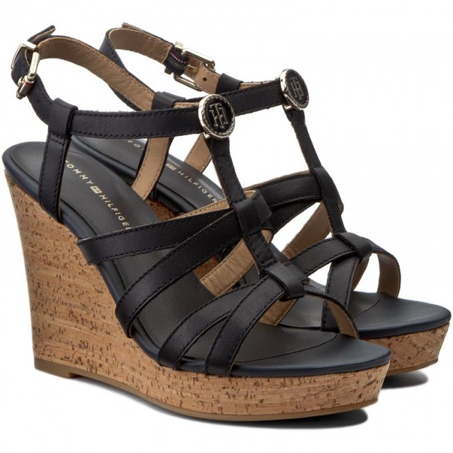 c9d097797 Sandals TOMMY HILFIGER - Edel 8A FW0FW00868 Midnight 403 - Wedges - Mules  and sandals - Women's shoes - efootwear.eu