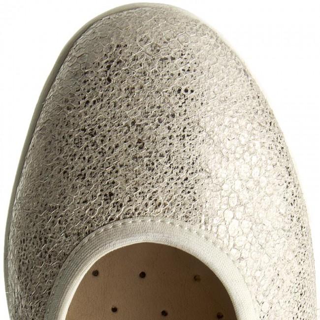 New Flats CAPRICE 9 22150 28 White Reptile 110 Ballerina
