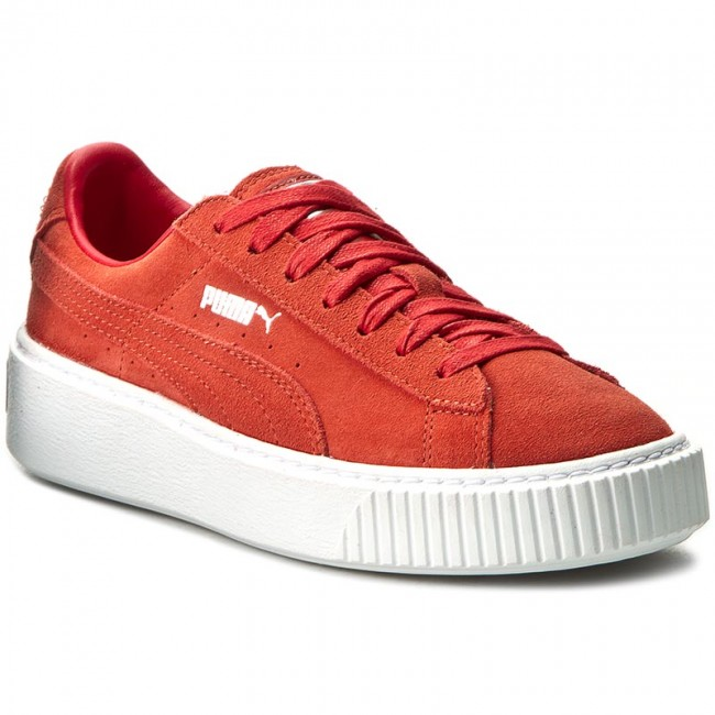 Sneakers PUMA - Suede Platform 362223 03 Barbados Cherry/Cherry/White