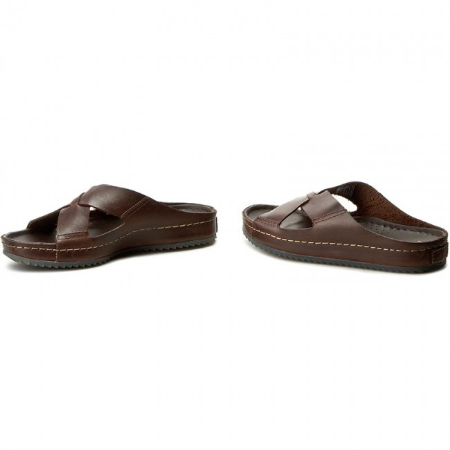 b1ef3a35471c14 Slides CLARKS - Netrix Jump 261128317 Brown Leather - Clogs and mules -  Mules and sandals - Men's shoes - efootwear.eu