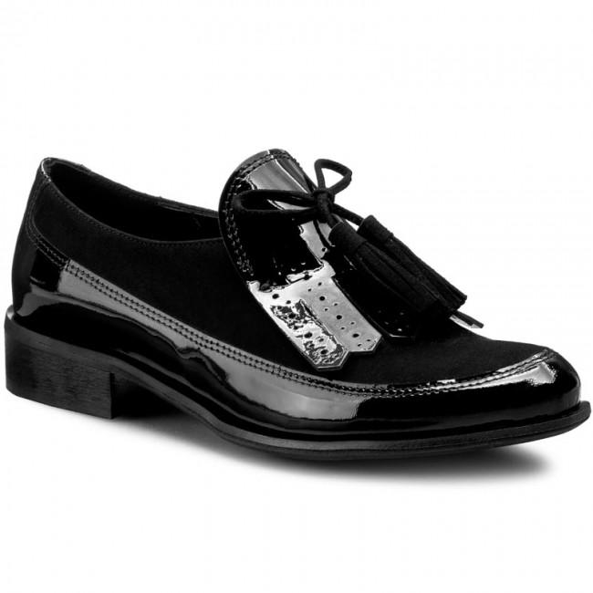 fa193d7a5adf Shoes SAGAN - 2892 Czarny Lakier Czarny Welur - Flats - Low shoes ...
