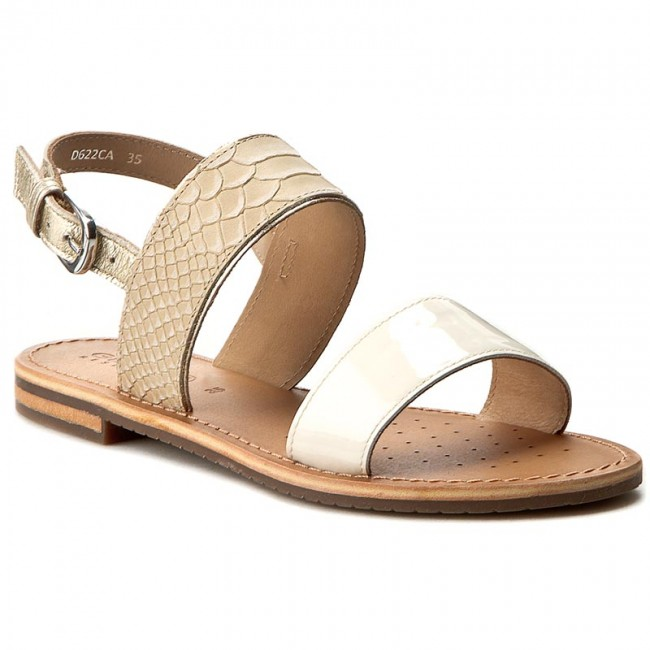 fda27fe795ed4 Sandals GEOX - D Sozy A D622CA 0RZ66 CH61Z Lt Taupe White - Casual ...
