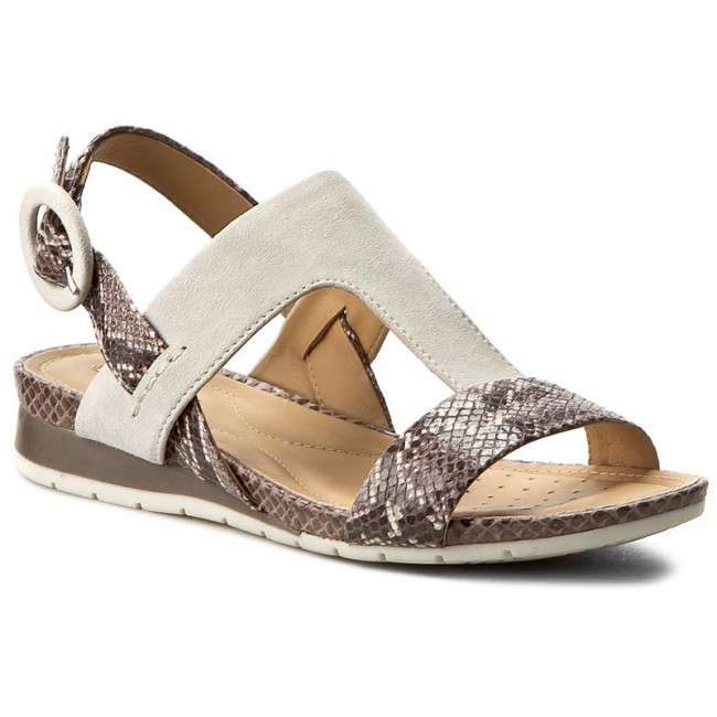 75ebeb62ab073 Sandals GEOX - D Formosa D6293E 0RY21 C1X1Q Smoke Grey Off White ...