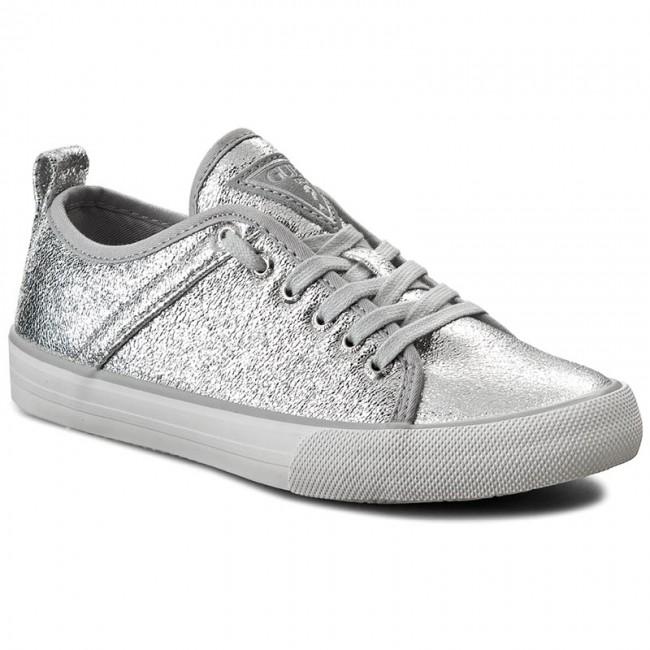 Plimsolls GUESS - Jolie FLJLI1 LEL12 SILVE - Sneakers - Low shoes ... b5160039336