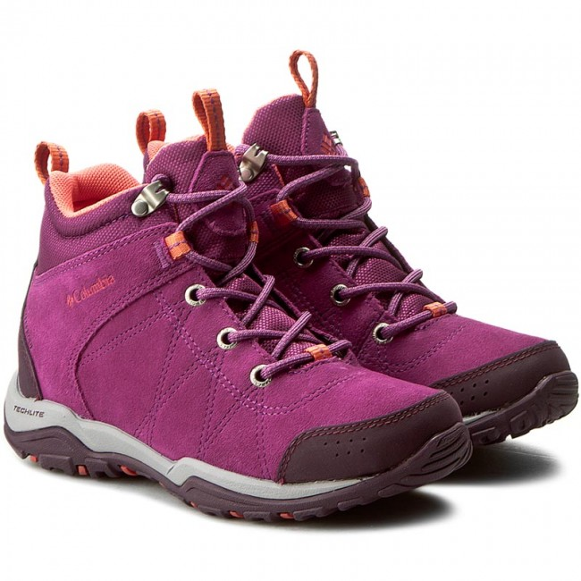 95be2c4a92d9 Trekker Boots COLUMBIA - Fire Venture Mid Waterproof BL1717 Intense  Violet Melonade - Trekker boots - High boots and others - Women s shoes -  www.efootwear. ...