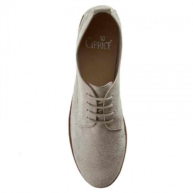 Caprice 9 Low Oxfords 23200 28 201 Shoes Lt Grey Suede BdUwqZ