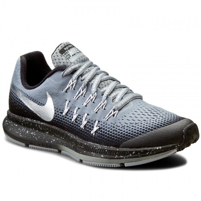 3a8d19645f89 Shoes NIKE. Zm Pegasus 33 Shield (GS) 859623 001 Stealth Metallic Silver  Black