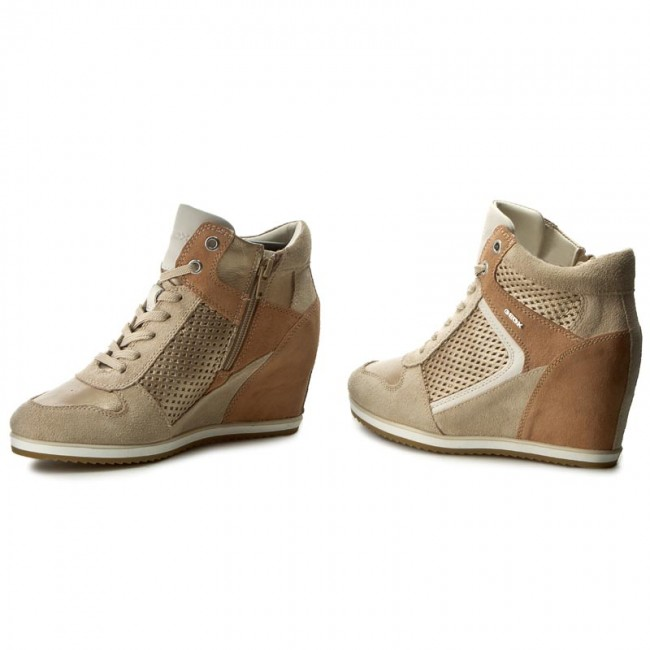 a109bf5f2a9 Sneakers GEOX - D Illusion B D7254B 022BV CH6B5 Lt Taupe Champagne ...