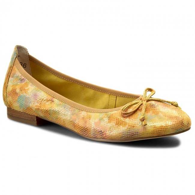 Flats CAPRICE  92210228 Yellow 600  Ballerina shoes  Low shoes  Womens shoes       0000199172311