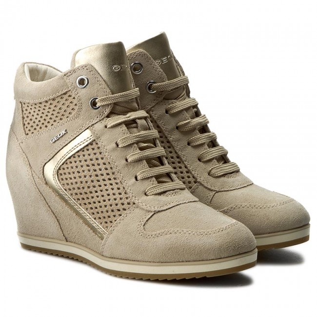 official supplier hot sale online new product Sneakers GEOX - D Illusion B D7254B 022AJ CH62L Lt Taupe/Lt Gold ...