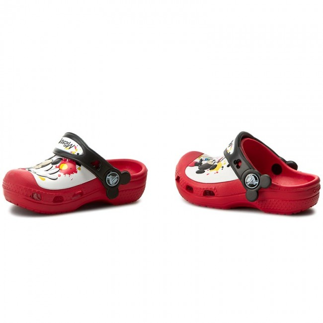 f91044e69a11cb Slides CROCS - Cc Mickey Paint 15856 Red - Clogs and mules - Clogs ...