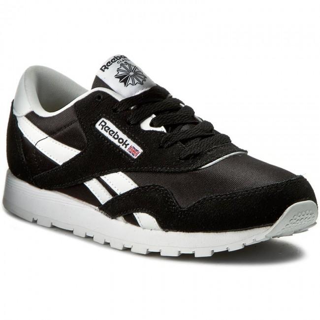 89741cf6994 Shoes Reebok - Cl Nylon J21507 Black White - Laced shoes - Low shoes ...