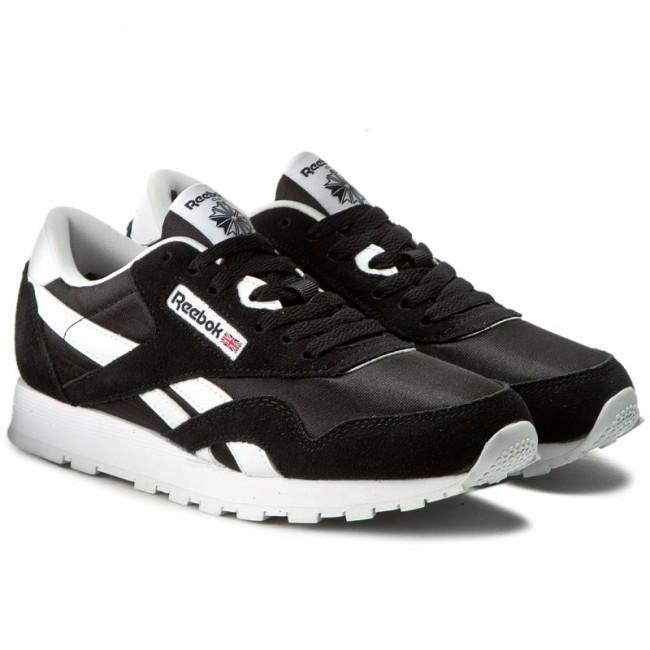 Reebok Classic J21506 Nylon Black//White Casual Shoes Youth Women