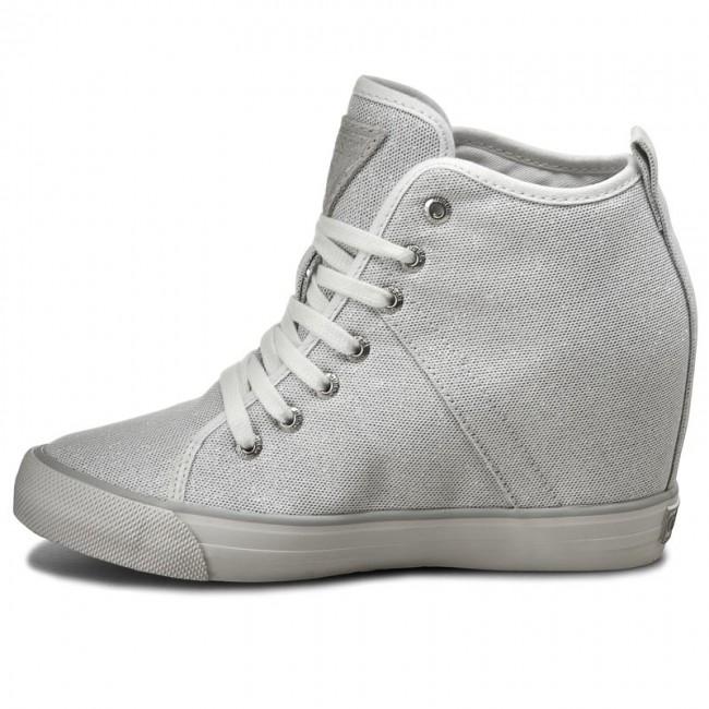 Sneakers GUESS Jillie FLJIL1 FAM12 SILVE