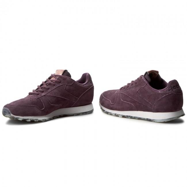 reebok, New Reebok Classic Leather Shmr Ladies Purple