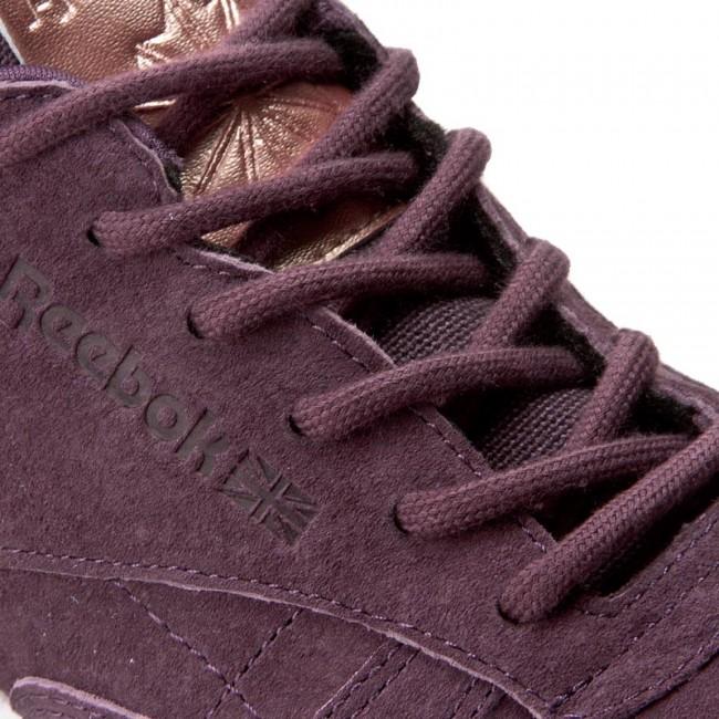 Shoes Reebok Cl Lthr Shmr BD1520 MeteoriteWhiteRose Gold