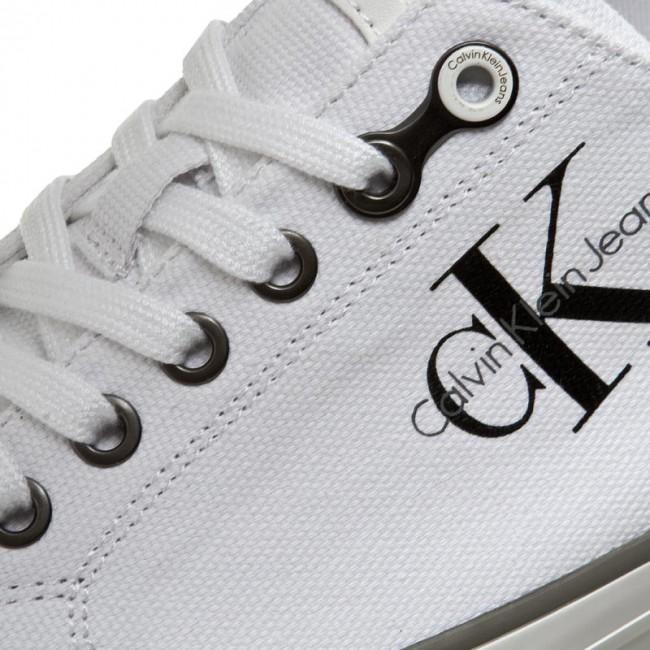613ef4508 Plimsolls CALVIN KLEIN JEANS - Arnold S0369 White - Plimsolls - Low shoes -  Men's shoes - efootwear.eu