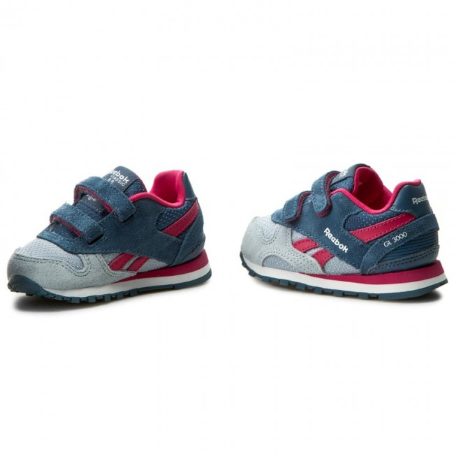 07bc56cda47f4 Shoes Reebok - Gl 3000 Td Sp BD2443 Gry Blue Pink Wht - Velcro - Low ...