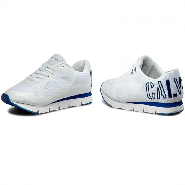 Sneakers CALVIN KLEIN JEANS - Taja R4110 White Cobalt - Sneakers ... 00f531dd67