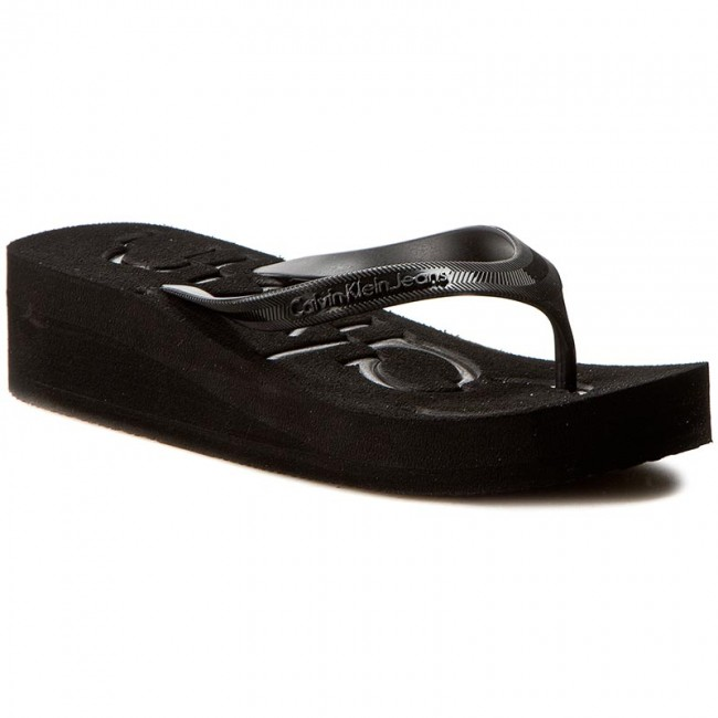 a9e48b603 Slides CALVIN KLEIN JEANS - Tamber R4117 Black Black - Flip-flops ...