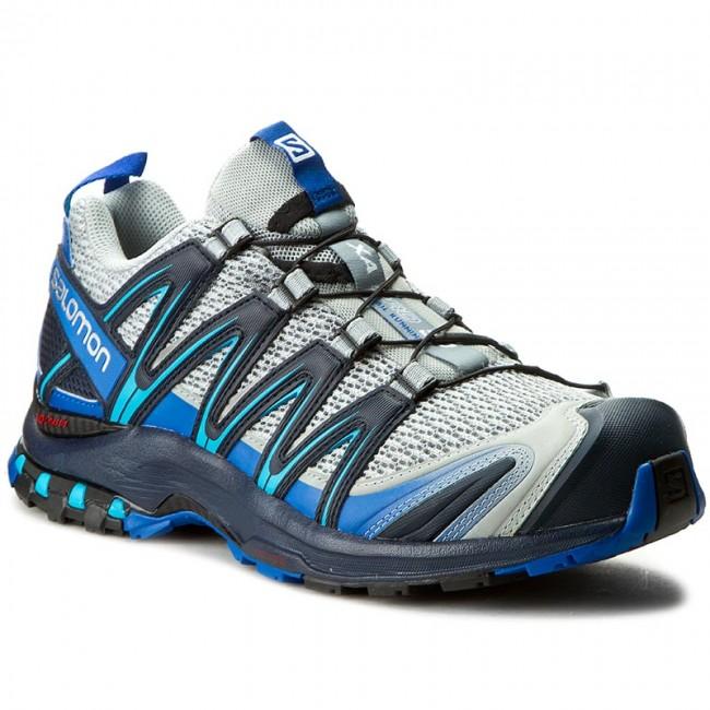 Shoes SALOMON - Xa Pro 3D 392515 28 V0 Quarry/Nautical Blue/Hawaiian Ocean