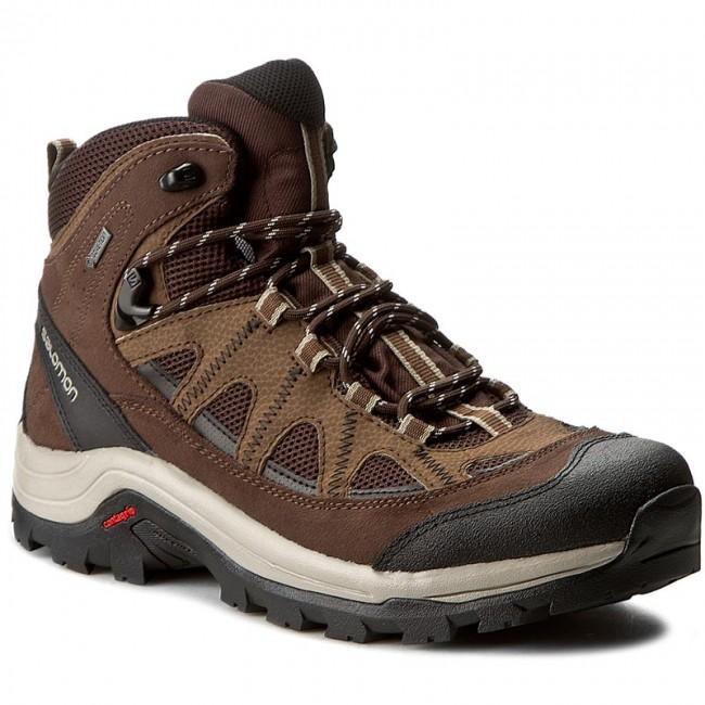 ... Coffee/Chocolate Brown/Vintage Khaki. New. Trekker Boots SALOMON -  Authentic Ltr Gtx GORE-TEX 394668 27 V0 Black Coffee/