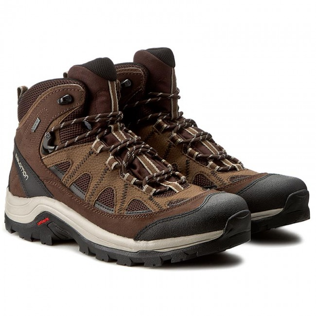 26473e8a8f0 Trekker Boots SALOMON - Authentic Ltr Gtx GORE-TEX 394668 27 V0 Black  Coffee/Chocolate Brown/Vintage Khaki