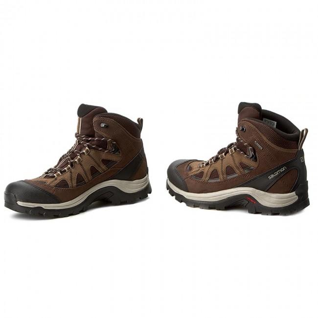 Trekker Boots SALOMON - Authentic Ltr Gtx GORE-TEX 394668 27 V0 Black  Coffee  84007a287b