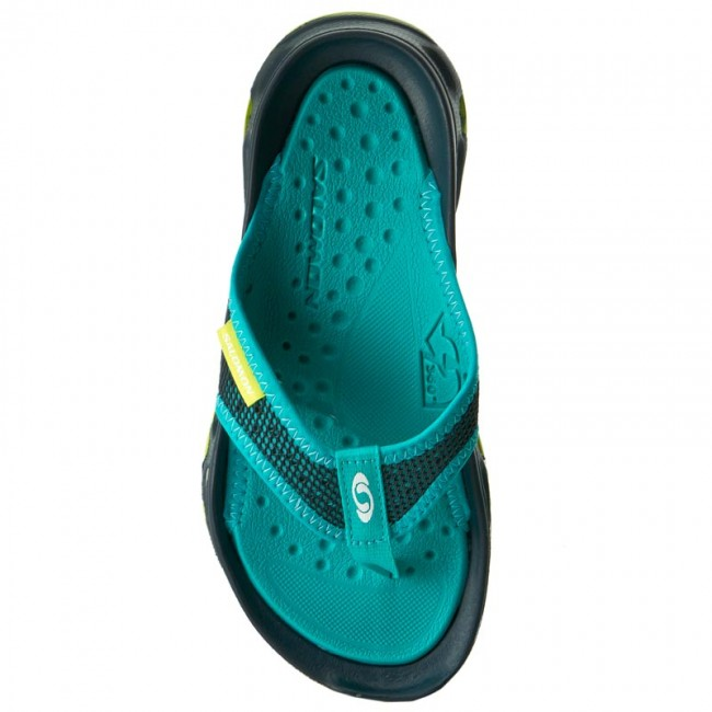 9e753fede831 Slides SALOMON - Rx Break W 392496 20 M0 Reflecting Pond Deep Peacock  Blue Lime Green - Flip-flops - Mules and sandals - Women s shoes -  www.efootwear.eu