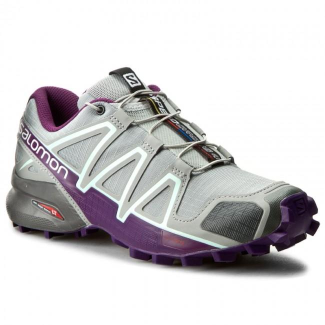 Shoes SALOMON - Speedcross 4 W 394664 20 V0 Quarry/Acai/Fair Aqua
