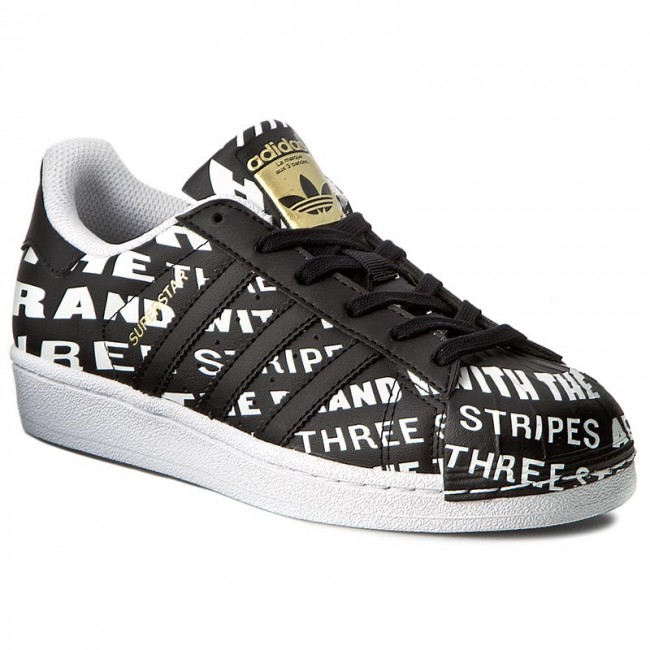 Zapatos adidas superstar J bb0352 cblack / cblack / ftwwht Sneakers