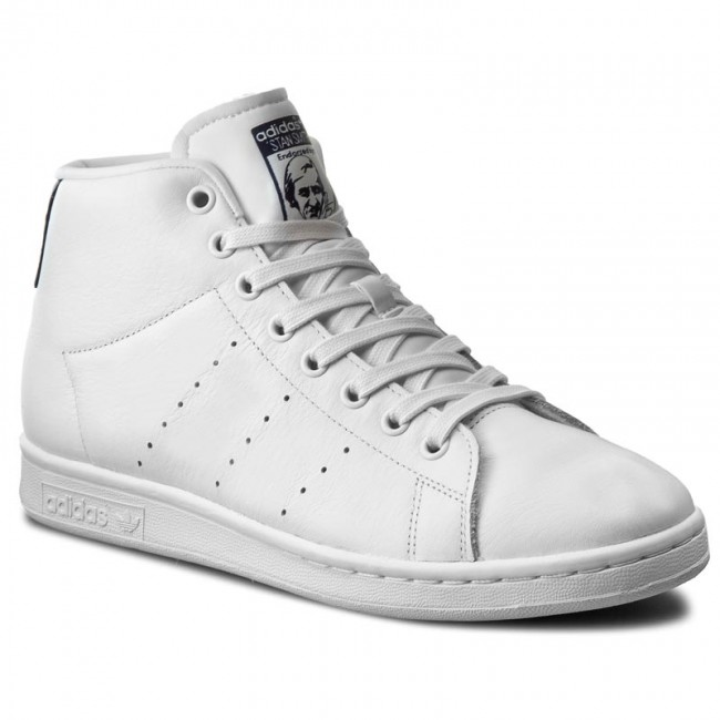 Shoes adidas - Stan Smith Mid BB0070 Ftwwht Ftwwht Dkblue - Sneakers ... a1e587ba10