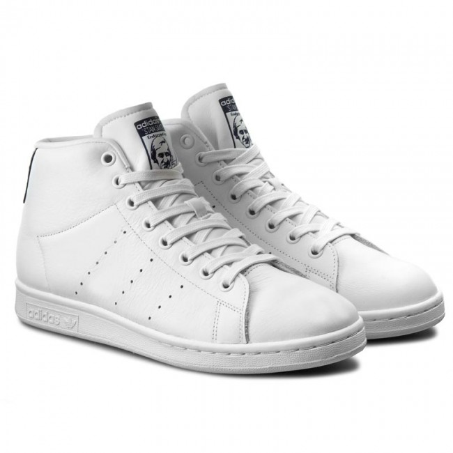 Shoes adidas - Stan Smith Mid BB0070 Ftwwht Ftwwht Dkblue - Sneakers - Low  shoes - Men s shoes - www.efootwear.eu 69286d05cf