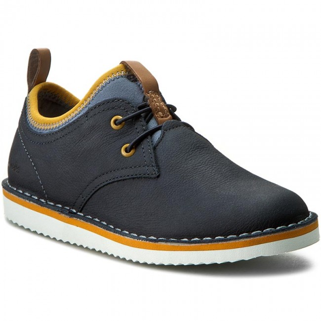 dbc09608626 Shoes CLARKS - Oscar Maze Jnr 261239536 Navy Leather - Slided shoes ...