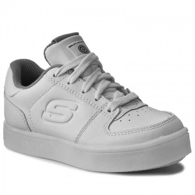 Sneakers SKECHERS - Energy Lights 90601L WHT White - Laced shoes ... 53e539d37e1