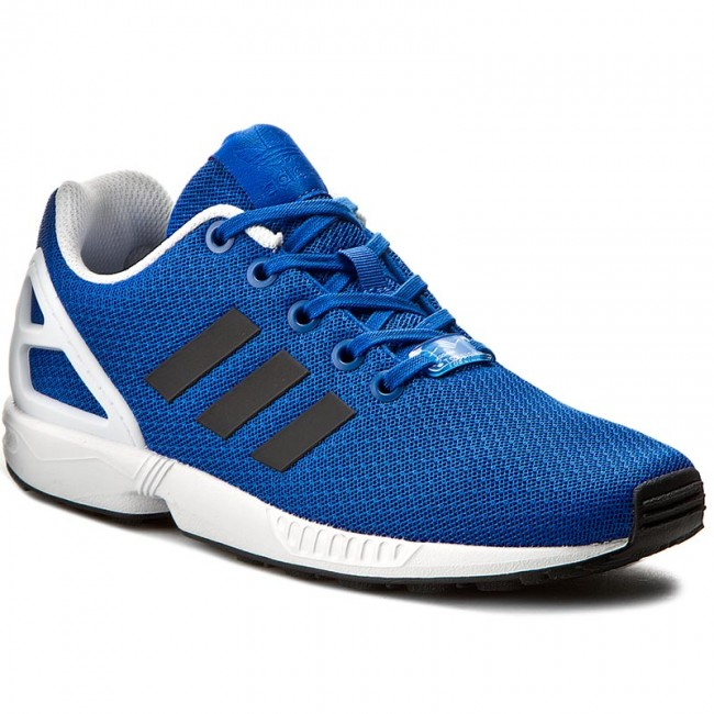 fcbbf9aca2b8a Shoes adidas - Zx Flux J BB2408 Blue Cblack Ftwwht - Sneakers - Low ...