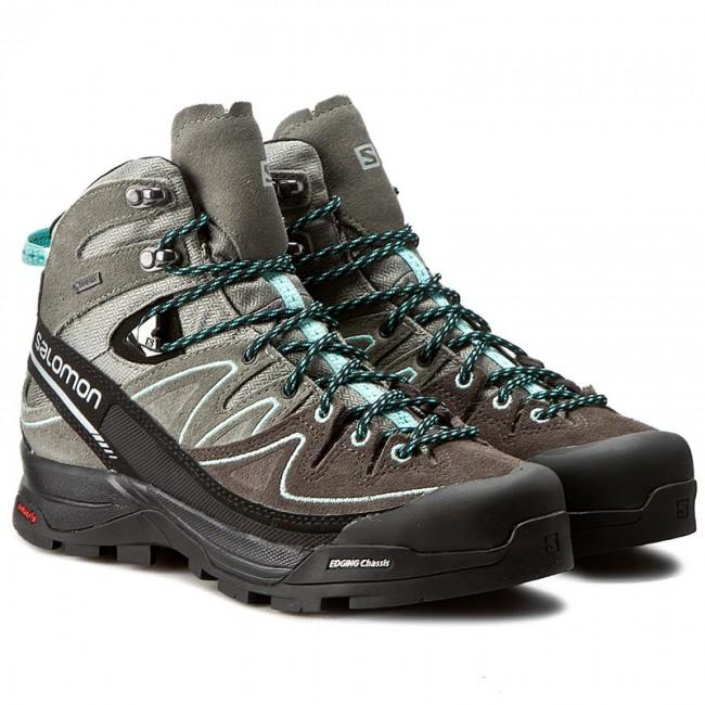 b69f1305 Trekker Boots SALOMON - X Alp Mid Ltr Gtx W GORE-TEX 394732 21 V0  Shadow/Castor Gray/Aruba Blue - Trekker boots - High boots and others -  Women's shoes ...