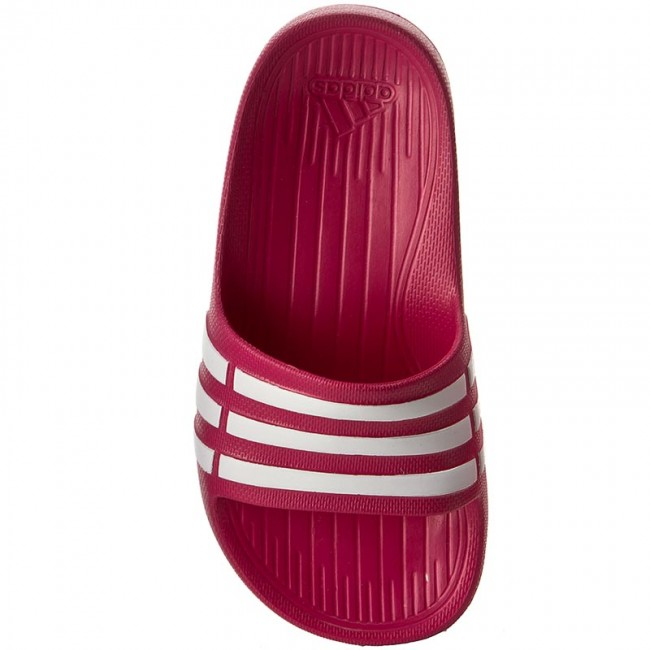 on sale fda17 b7e06 adidas duramo slide red