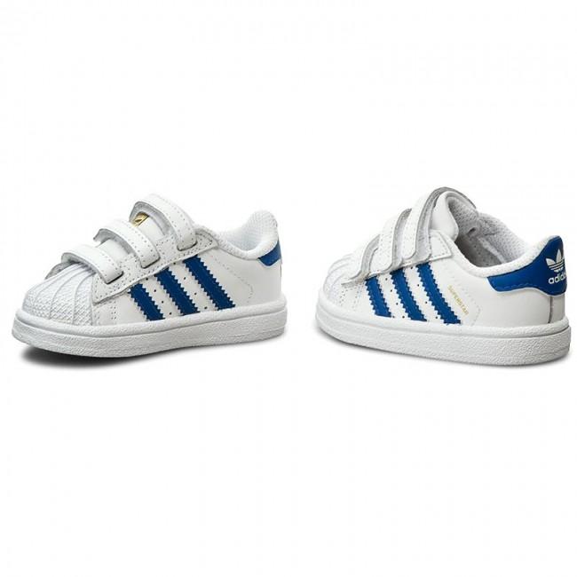 ee1be2fef3e Shoes adidas - Superstar Foundation Cf I S74946 Dtwwht/Eqtblu/Eqtblu -  Velcro - Low shoes - Girl - Kids' shoes - efootwear.eu