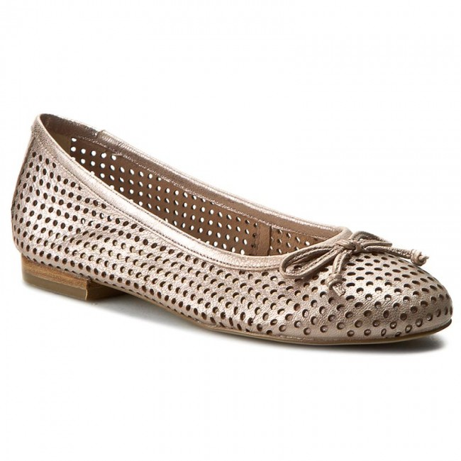 Flats CAPRICE - 9-22109-28 Rose Metallic 521 - Ballerina shoes - Low ... ca4e58b75f